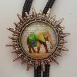 """Галстук Боло """"Индийский слон"""""""