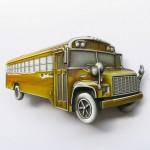 """Пряжка на ремень """"Школьный автобус"""", желтая."""