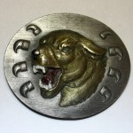"3D пряжка на ремень ""Горный лев"""