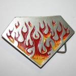 Пряжка на ремень с пламенем