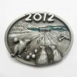"""Пряжка """"Акктический боулинг 2012"""" (эмаль)"""