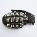 Пряжка «Граната», черная (кристаллы Swarovski)