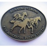 """Пряжка на ремень """"Running strong"""""""