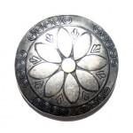 Пряжка на ремень с узором и цветком, handmade